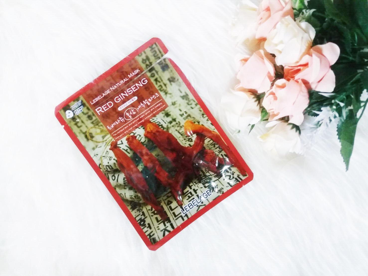 Masker Lebelage Red Ginseng